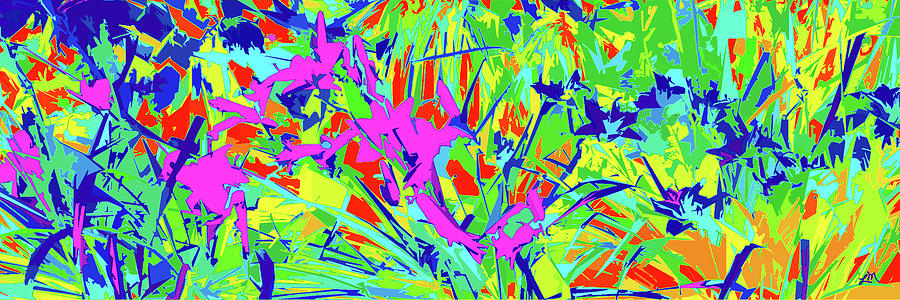 Abstract Digital Art - Radiant Tapestry by Linda Mears