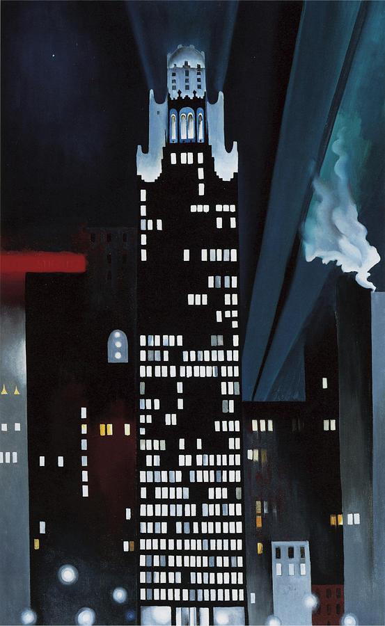 Radiator Building Photograph - Radiator Building Night  New York by Georgia O Keeffe