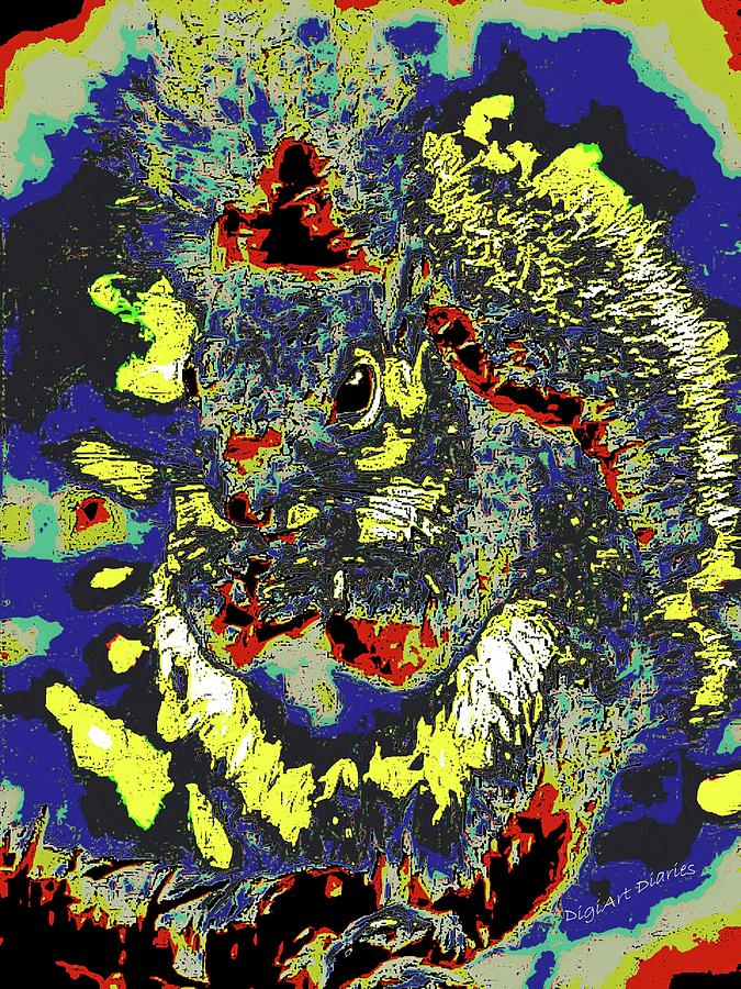 Squirrel Photograph - Radical Rodent by DigiArt Diaries by Vicky B Fuller