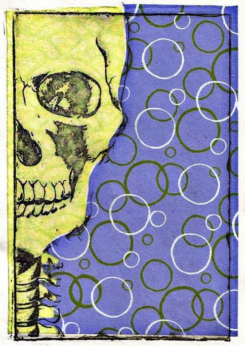 Skull Print - Radio Active by Kimberly Lavon