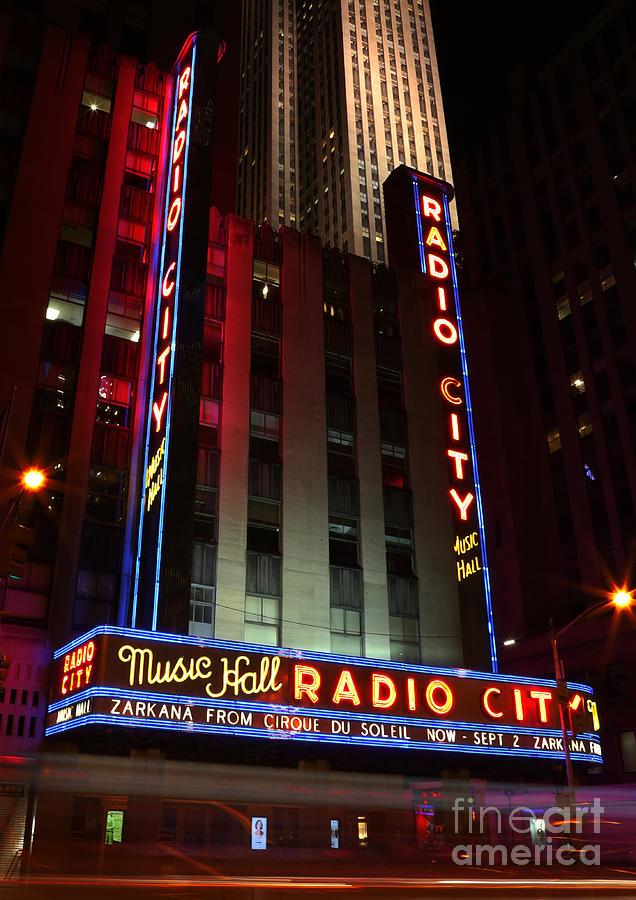 Broadway Photograph - Radio City Music Hall Cirque Du Soleil Zarkana by Lee Dos Santos