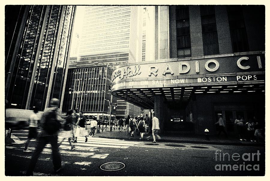 Noir Photograph - Radio City Music Hall Manhattan New York City by Sabine Jacobs
