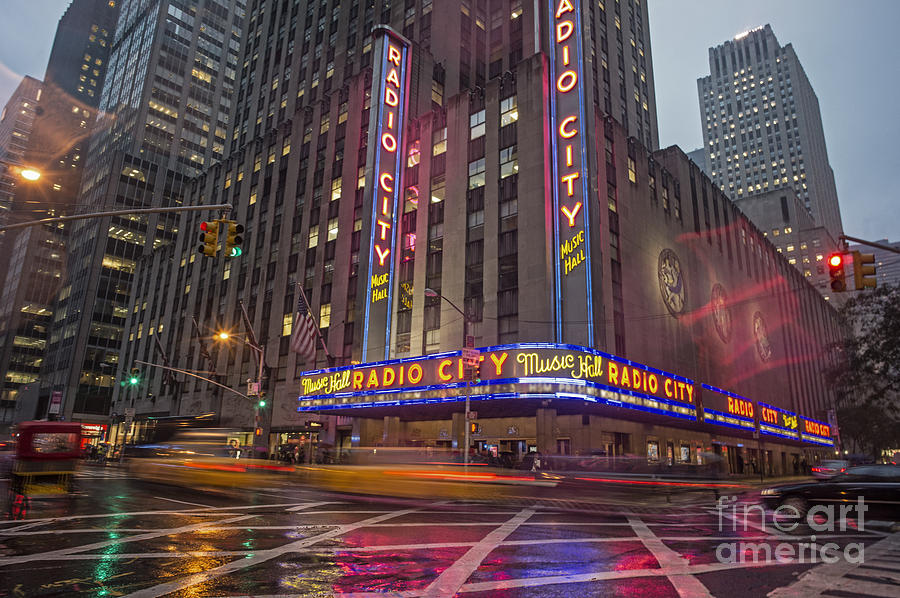 America Photograph - Radio City New York  by Juergen Held