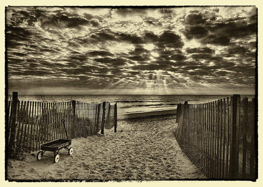 Landscape Photograph - Radio Flyer At Dewey Beach by Jack Paolini