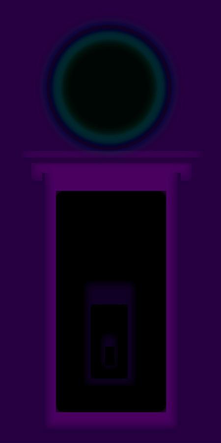 Palladian Painting - Radio Purple Palladio by Charles Stuart