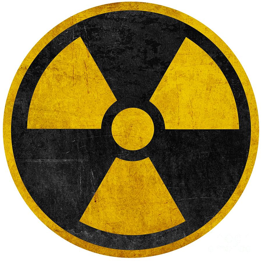 Vintage Distressed Nuclear War Fallout Shelter Sign Digital Art By