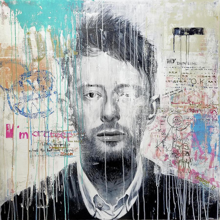 Jimi Hendrix Painting - Radiohead - Thom Yorke by Art Popop