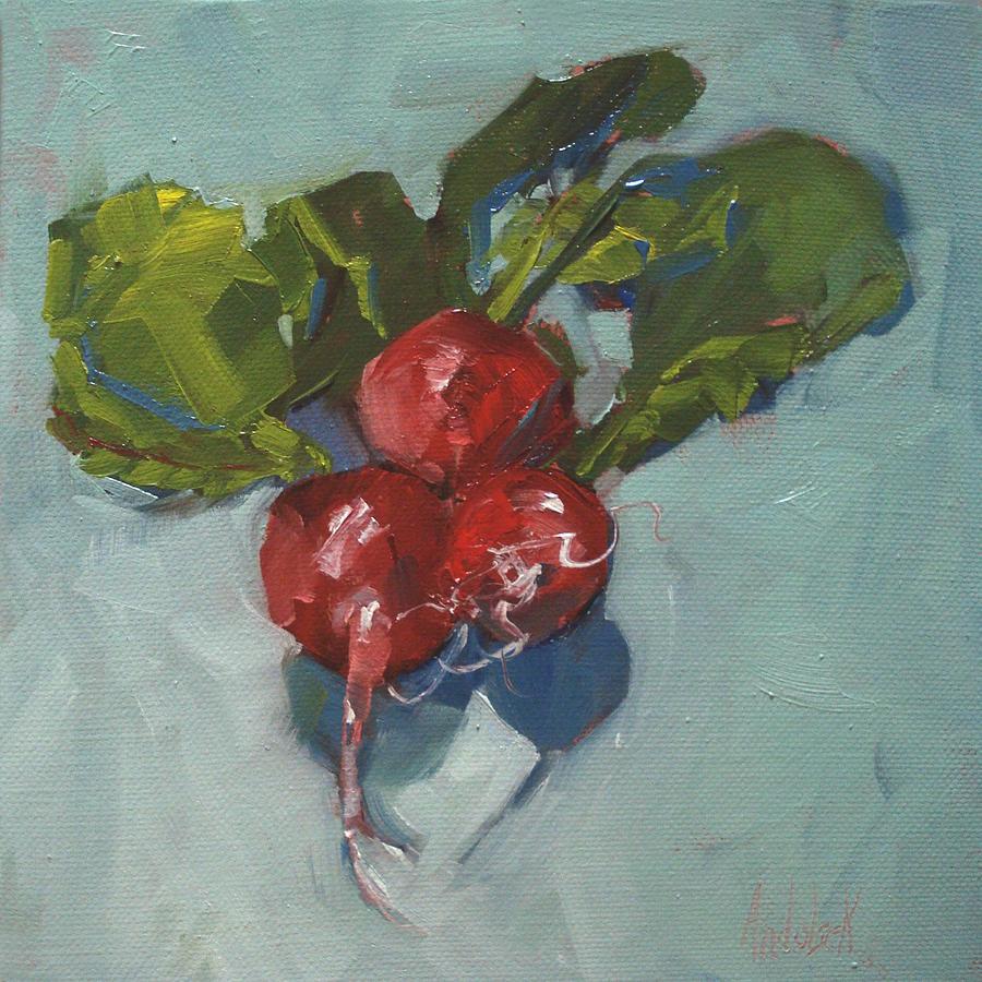 Radishes Painting - Radishes by Barbara Andolsek