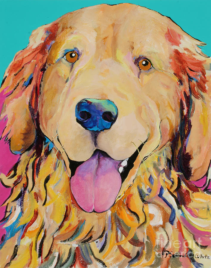Golden Retriever Painting - Radley by Pat Saunders-White