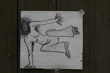 Radwoman Acrobat Drawing by Polly  Wood