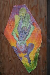 Radwoman Birth Triad Mixed Media by Polly  Wood