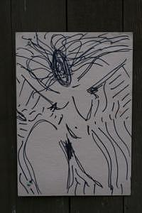 Radwoman Dancer2 Drawing by Polly  Wood