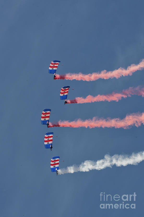 Royal Air Force Photograph - Raf Parachute Display Team by Smart Aviation