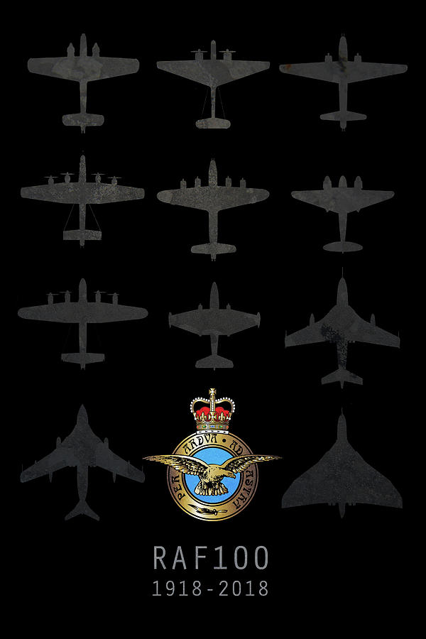 Handley Page Hampden Digital Art - Raf100 - The Bombers by J Biggadike