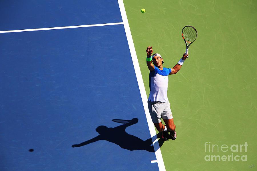 Rafeal Nadal Tennis Serve Photograph