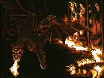 Faery Painting - Rage by Linda Laforge