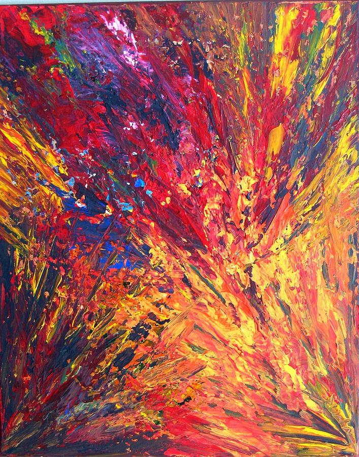 Abstract Painting - Rage by Nathalie Morin Rousseau