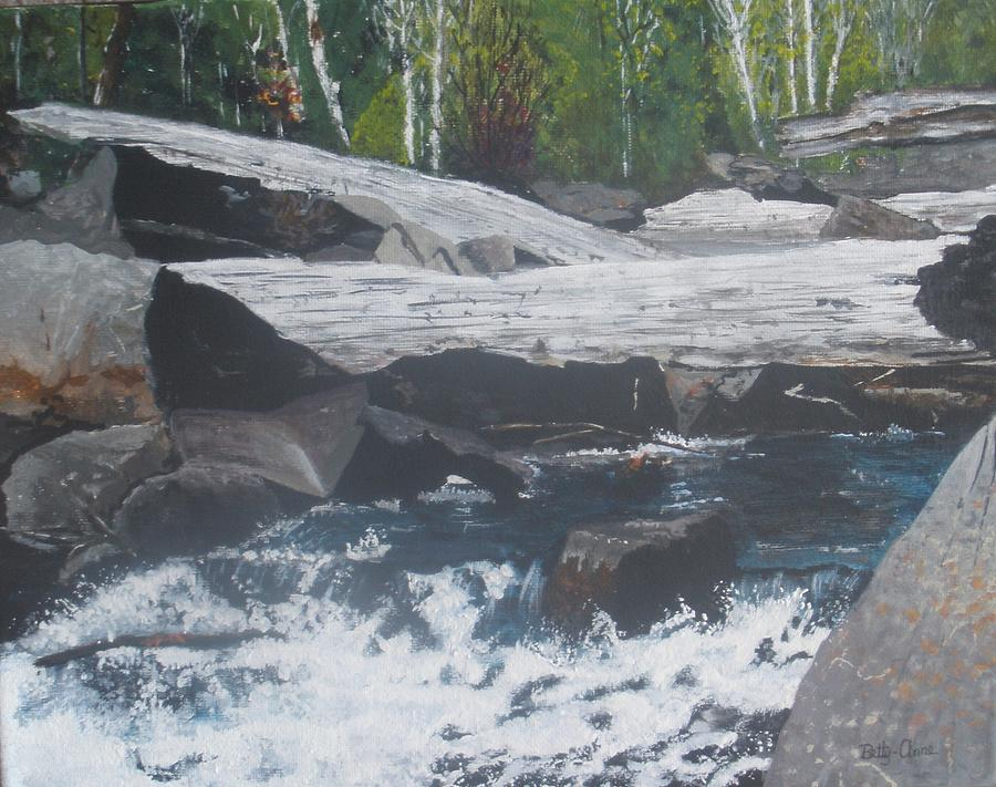Landscape Painting - Ragged Falls by Betty-Anne McDonald