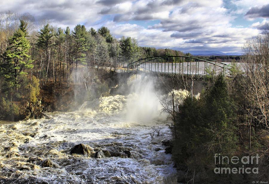 Falls Photograph - Raging Water by Deborah Benoit