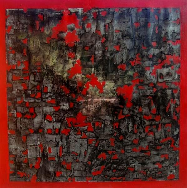 Rags Over Red Painting by Adalardo Nunciato  Santiago