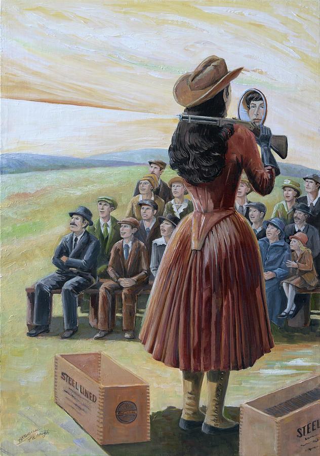 Annie Oakley Painting - Ragtime Annie by Paula McHugh