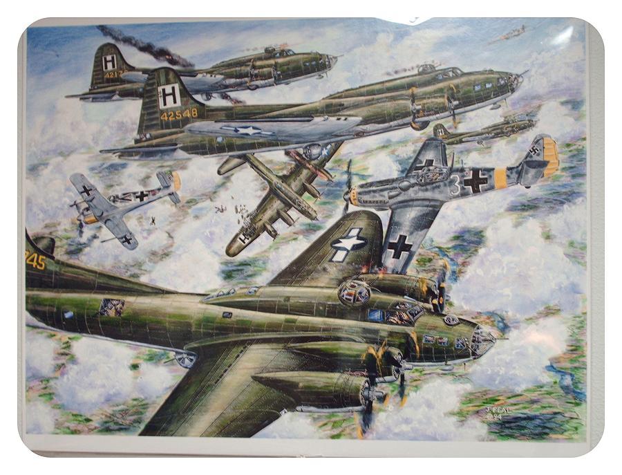 Aircraft Painting - Raid On Brunswick by James Beal
