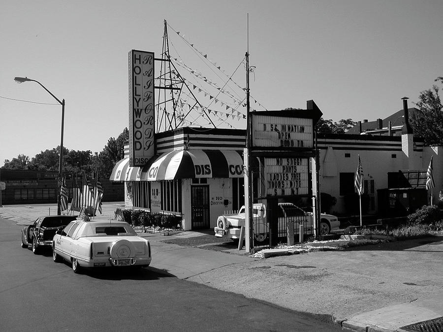 Memphis Photograph - Raifords Disco Memphis B Bw by Mark Czerniec