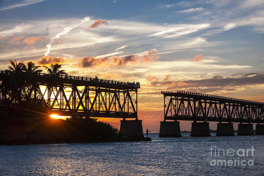 Florida Keys Photograph - Rail Bridge At Florida Keys by Elena Elisseeva