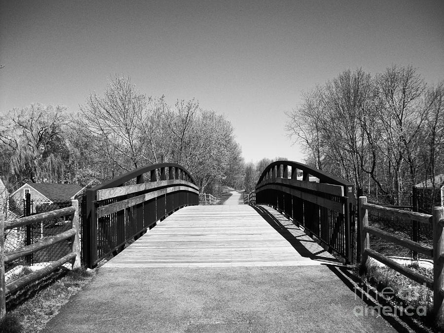 Bridge Photograph - Rail Trail Bridge, Newburyport, Massachusetts by Lita Kelley