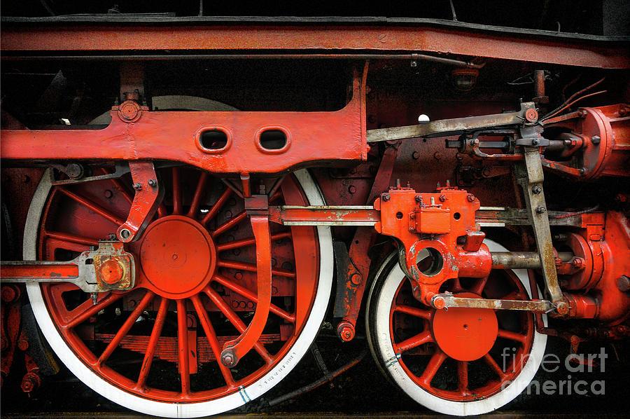 Rail Wheel Detail,  Steam Locomotive 02 by Daliana Pacuraru