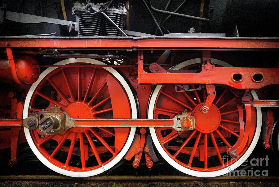 Rail Wheel Detail,  Steam Locomotive 01 by Daliana Pacuraru