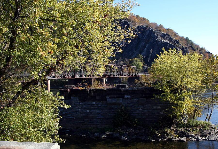 Railroad Photograph - Railroad Bridge Over The Potomac by Rebecca Smith