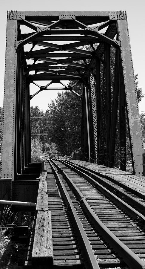 Architecture Photograph - Railroad Bridge by Sonja Anderson