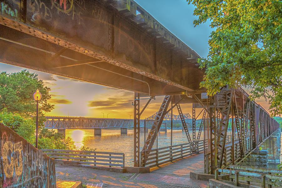 Muscle Shoals Photograph - Railroad Bridge12 by Craig Applegarth