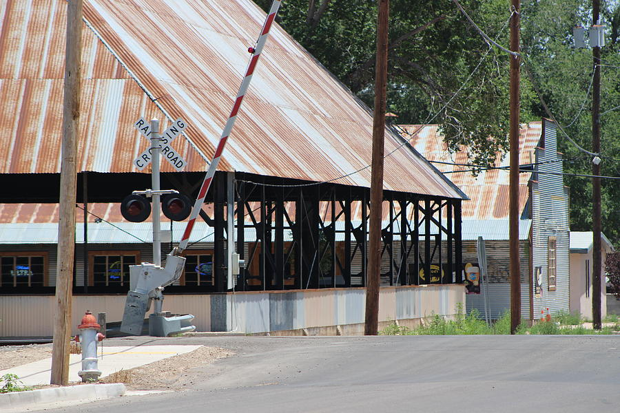 New Mexico Photograph - Railroad Crossing and Industry by Colleen Cornelius