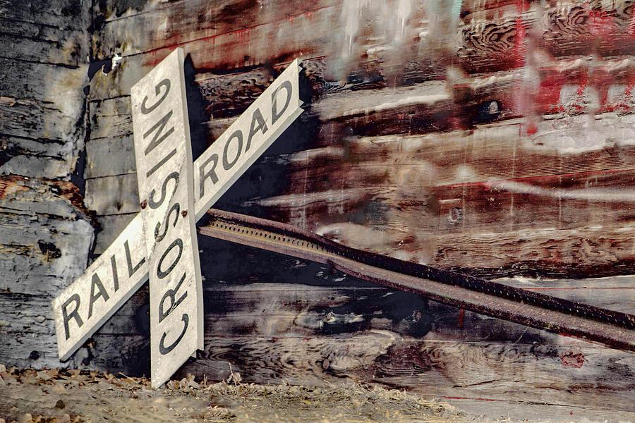 Railroad Photograph - Railroad Crossing Sign  by Nikki Vig