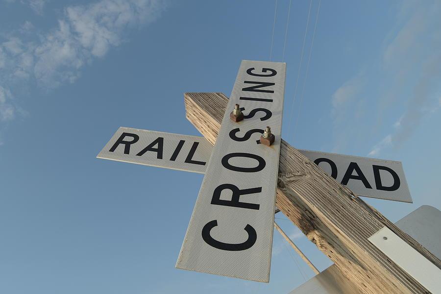 Railroad Photograph - Railroad Crossing Sign by Steven Liveoak