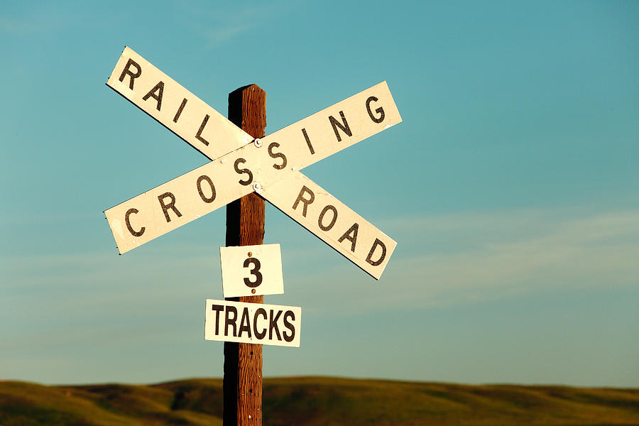 Railroad Crossing Photograph - Railroad Crossing by Todd Klassy