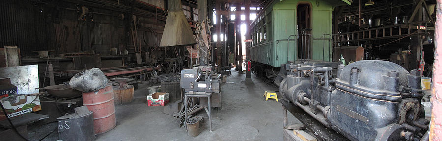 Railroad Photograph - Railroad Shop by Larry Darnell