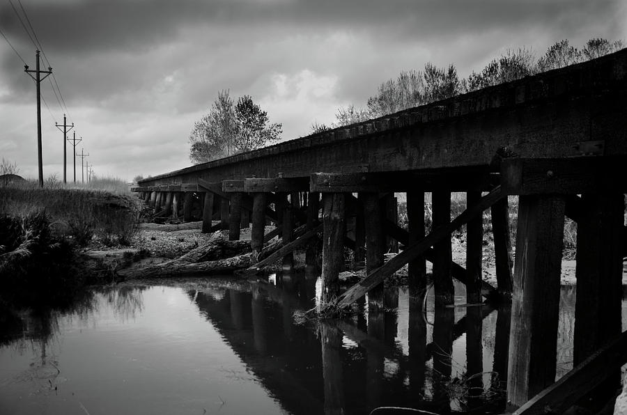 Storm Clouds Photograph - Railroad Tracks 2 by Matthew Angelo