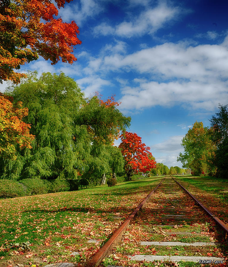 Acadian Photograph - Railroad Tracks At Grand-pre National Historic Site by Ken Morris