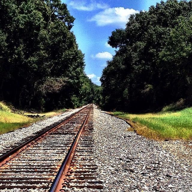 Train Tracks Photograph - East Texas Tracks by Jen McKnight