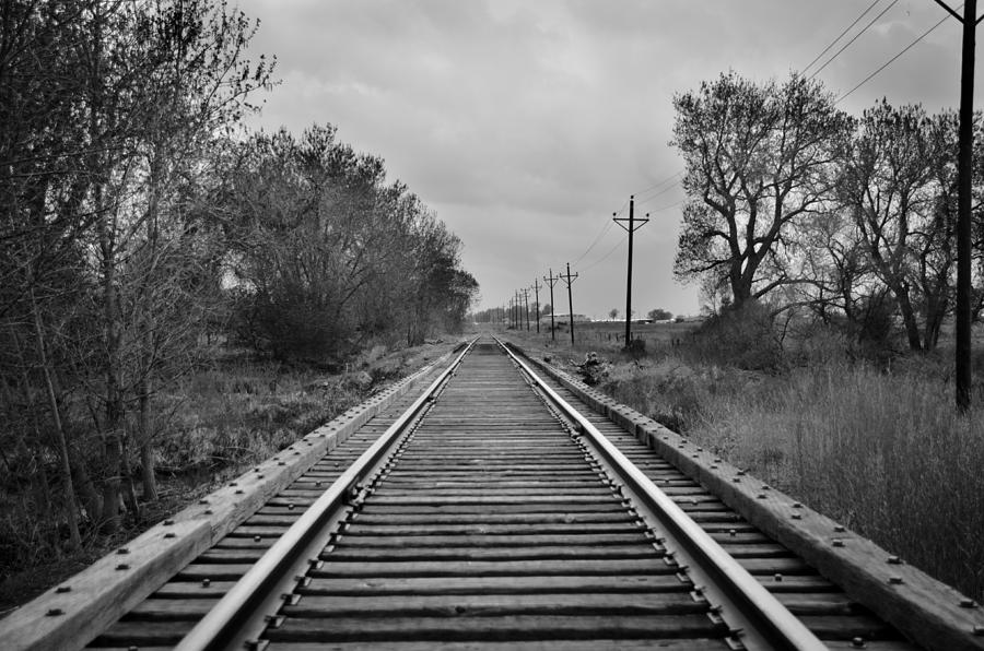 Railroad Tracks Photograph - Railroad Tracks by Matthew Angelo