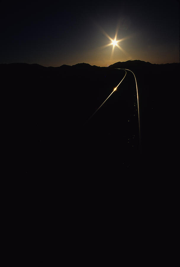 Rails Photograph - Rails At Sunrise by Susan  Benson