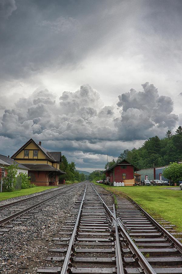 Rail Station Storm Photograph