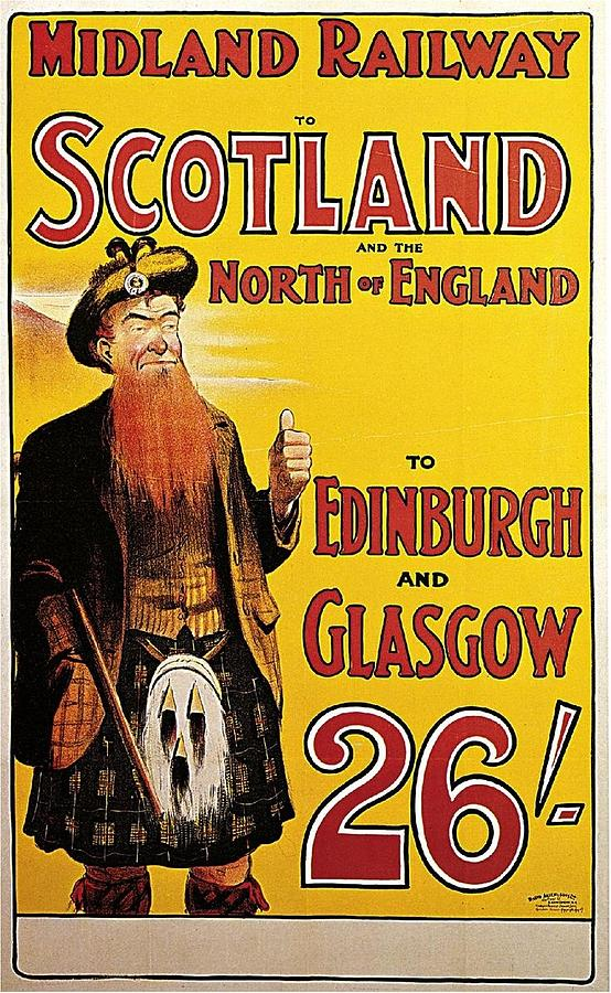 Railway To Scotland And The North Of England Painting