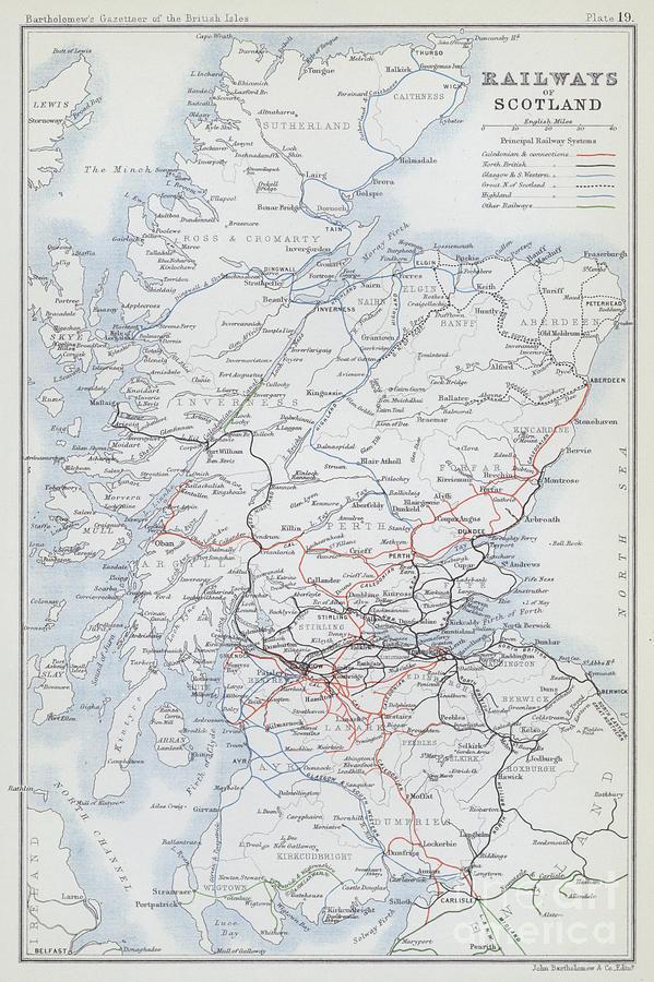 Map Drawing - Railways Of Scotland by English School