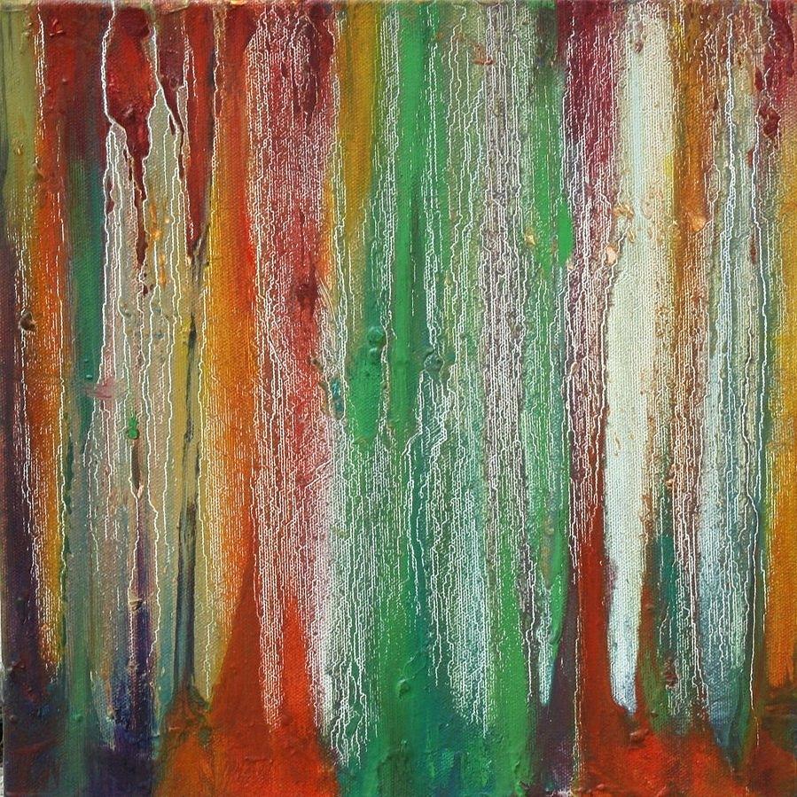 Abstract Painting - Rain 2 by Jill Tennison