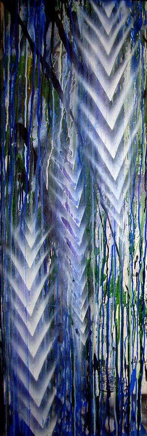Rain Painting - Rain 2 by Leigh Odom