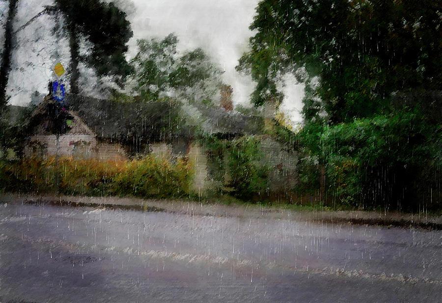 Rain... Mixed Media by Aleksandrs Drozdovs